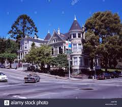 Victorian House San Francisco by Victorian House San Francisco United States Of America Stock