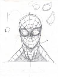 spiderman face sketch tefenthescorpion deviantart