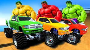 monster trucks for kids video for kids police vs car battle video police monster truck videos