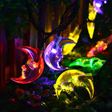 outdoor halloween lighting aliexpress com buy solar lamps 6m 30leds moon string light