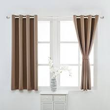 Brown Blackout Curtains Yoja Thermal Insulated Blackout Curtains Grommet
