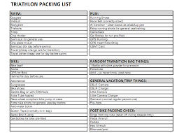 race day u0026 race travel checklists