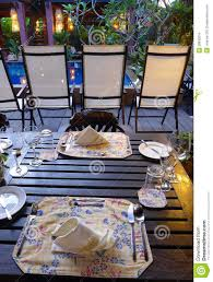 Elegant Table Settings by Elegant Table Setting Outdoors Ethnic Batik Stock Images Image