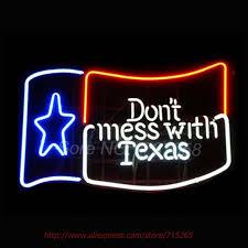 texas tech neon light don t mess with texas neon sign garage window sign shiptodayusa