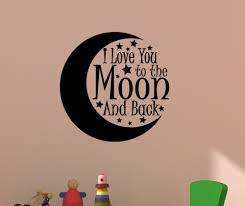 popular child playroom furniture buy cheap child playroom wall decal vinyl sticeker nursery quote i love you to the moon and back for kid