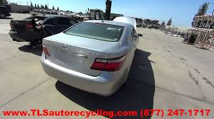 lexus ls 460 convertible parting out 2007 lexus ls 460 stock 5101gr tls auto recycling