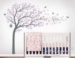Tree Nursery Wall Decal Nursery Wall Decals Stickers Large Cherry Blossom Tree With