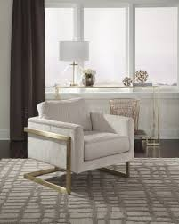 donny osmond home decor 902785 accent chair in ivory fabric by donny osmond