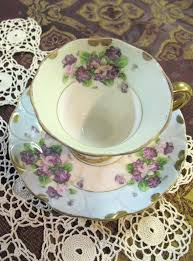 lefton china pattern vintage lefton china 1950s pattern violets collectable teacups