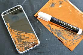 deco foil copper foil phone mad in crafts