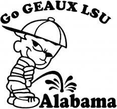 go geaux lsu on alabama car or truck window decal sticker