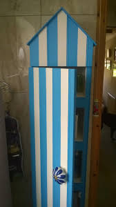 Beach Style Bathroom Vanity by Tall Beach Hut Style Bathroom Cabinet Made From Oddments Of Wood