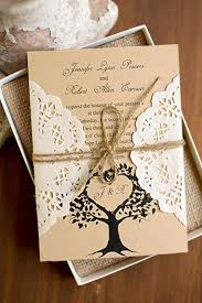 country style wedding invitations tree rustic made in south korea lace pocket wedding invites
