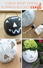 chalk paint pumpkin planter upcycle diy craft