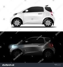 toyota mini car abstract white realistic midget mini car stock vector 746115655