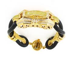 gold rubber bracelet images Rubber diamond bracelet 170 00611 brick city gold jpg