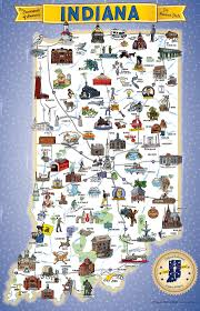 Map Indiana Bicentennial Map Of Indiana Mainstreet Rockville