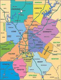 map of atlanta metro area atlanta ga area map of 12 counties at this newcomer atlanta