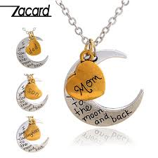 zacard loving family necklace 2017 christmas gifts for mom dad son