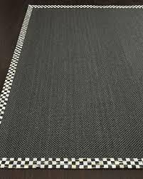 mackenzie childs courtly check black sisal rug