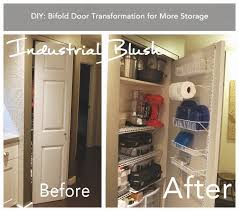 How To Build Bi Fold Closet Doors Industrial Blush Diy Bifold Door Transformation For More Storage