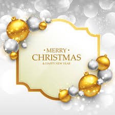 merry christmas greeting card with golden christmas ball royalty