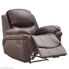 Armchair Sofa Madison Brown Real Leather Recliner Armchair Sofa Home Lounge