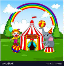 clown graphics 89 clown graphics backgrounds circus elephant and clown with carnival background