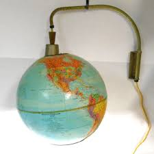 world globe home decor vtg mid century modern adjustable hanging globe world map lamp