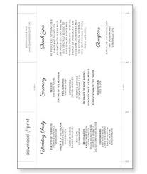 tri fold wedding program templates harvest scroll accordion fold wedding program print