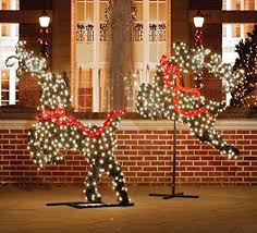 Flying Reindeer Christmas Decorations by Reindeer Christmas Topiaries Christmas Wikii