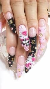and pink nail art hello kitty nail design cute lovely nail design