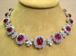 diamond necklace ruby images Diamond ruby necklace set images jpg