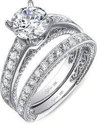 milgrain engagement ring sylvie pave milgrain engagement ring sy199