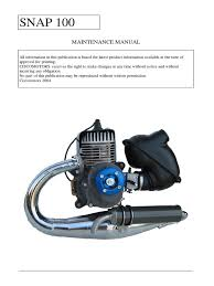 paramotor manual engl snap100s ciscomotors parapente piston