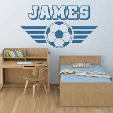 compare prices on football wall sticker online shopping buy low nom personnalise football wall sticker sports art stickers decor china