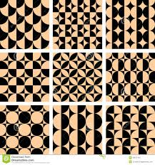 seamless geometric patterns in op art design royalty free stock