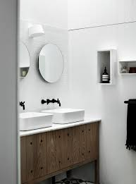 5 bathroom mirror ideas for a double vanity contemporist 5 bathroom mirror ideas for a double vanity two circular mirrors are a simple