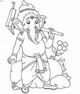 pencil of ganesha step by step coloring pages