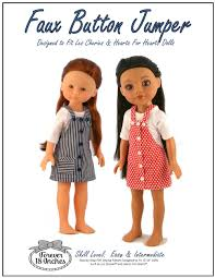 forever 18 inches faux button jumper doll clothes pattern les