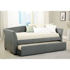shop furniture of america delmar gray twin daybed with trundle at