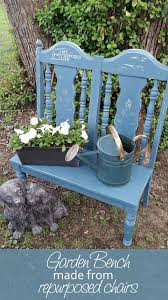 Small Seat Bench Garden Bench From Repurposed Chairs Bench Dolls And Gardens