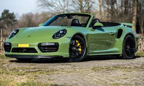 porsche cabriolet turbo porsche 911 turbo s cabriolet by edo competition is green with envy