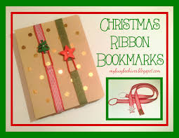 my busy beehives christmas ribbon bookmarks