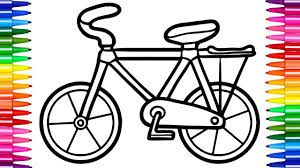 super coloring pages racing bicycle learn to draw for kids fun