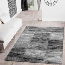 Wohnzimmer Design Schwarz Moderner Wohnzimmer Teppich Grau Schwarz Anthrazit Meliert Karo