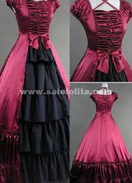 the princess temperament elegant red gothic vitoria long dress