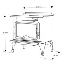 osburn 900 metallic black high efficiency wood stove ob00900