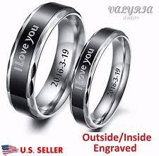 personalized engraved rings engraved rings ebay