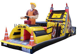 backyard demolition zone obstacle course jumpers for sale bounce